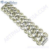 Latest Luxury Style Crystal Silver Bracelet