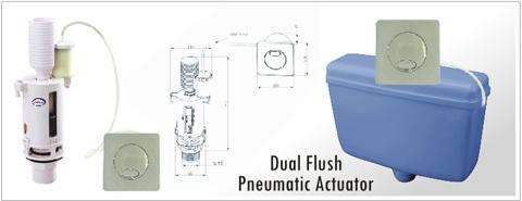 PNEUMATIC DUAL FLUSH