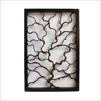 Snake Wood Teak Framed Wall Panel