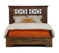 Reclaimed Wood Bed Frame With Iron