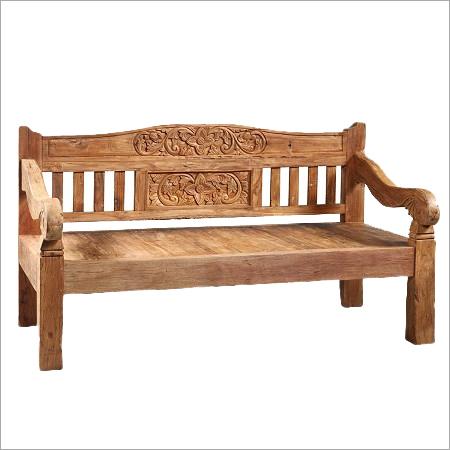 Jakarta Carved Teak Bench
