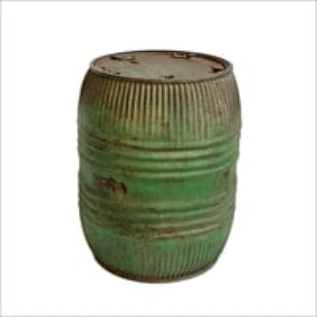 Vinage Iron Grain Barrel