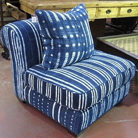 African Blanket Slipper Chair