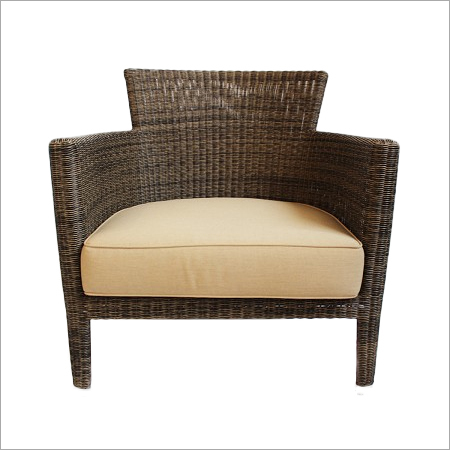 Woven Fiber Patio Lounge Chair
