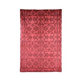 Hand-Knotted Red Rug