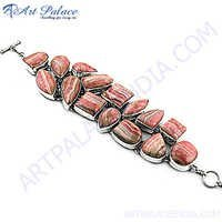 Red Rhodochrosite Gemstone Bracelet