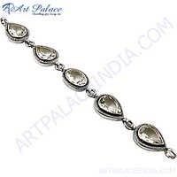 Unique Fashion Crystal Silver Bracelet