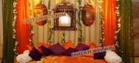 INDIAN MEHANDI STAGE DECORATIONS