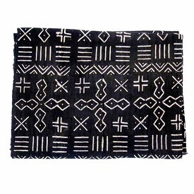 MALI MUDCLOTH BLACK & WHITE - SMALL