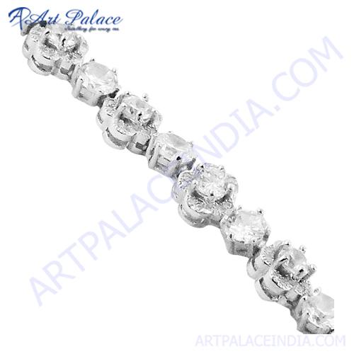 Handmade Cubic Zirconia Gemstone Bracelet