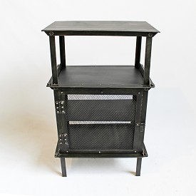 Industrial Iron Side Cabinet