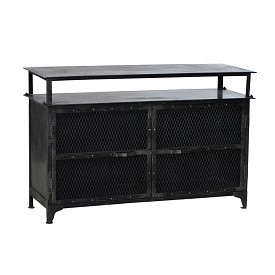 Industrial Iron Sideboard and Media Cabinet
