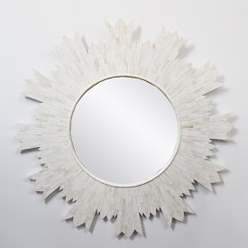 Bone Inlay Sun Mirror Frame