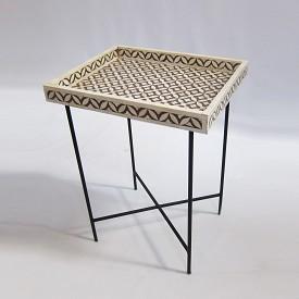 Bone Inlay Tray Table
