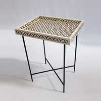 Bone Inlay Tray Table