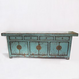 Distressed Turquoise Sideboard