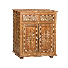 Inlay Teak Wood Cabinet