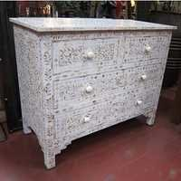 Mother of Pearl Inlay White Dresser