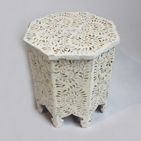 Inlay Octagonal Side Table