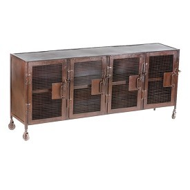 Industrial Iron Mesh Sideboard / Cabinet