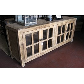 Reclaimed Wood Sideboard Display Cabinet