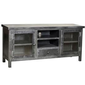 Industrial Iron Media Console