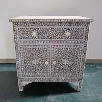 Mother of Pearl Inlay Dresser Brown