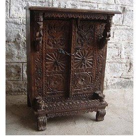 Original Carved Wood Cabinet