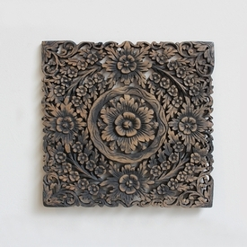 Teak Carved panel 24 - Antique Burn