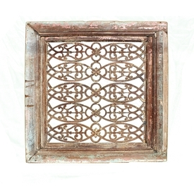 Vintage Carved Wood Panel