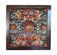 Square Carved Teak Ceiling Panel