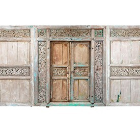 Vintage Carved Teak Doorway