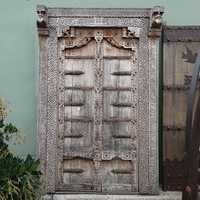 Rajasthan Carved Wood Door