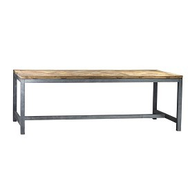Reclaimed Wood ad Iron Industrial Table