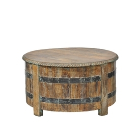 Vintage Barrel Coffee Table