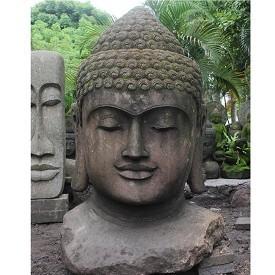 Giant Stone Carved Bali Buddha