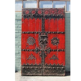 Iron Work Painted Garden Gate