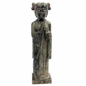 Black Stone Stone Standing Geisha