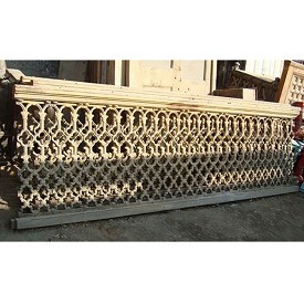 Cast Iron Work Wood Railing