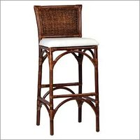 Rattan Woven Bar Stool With Cushion