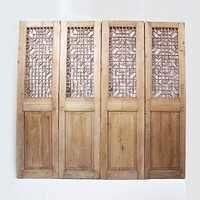 Carved Wood Lattice Screen