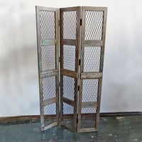 Reclaimed Wood and Iron Screen