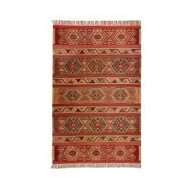 Wool Kilim Rug Red