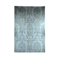 Hand Knotted Blue and Grey Rug