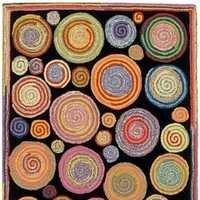 Wool Tufted Loop Floor Rug
