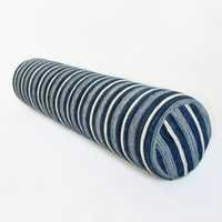 Denim Striped Bolster Pillow