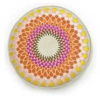 Sunburst Multicolor Embroidered Pillow