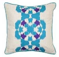 Teal & Purple Patterned Pillow