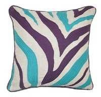 Linen Zebra Pillow