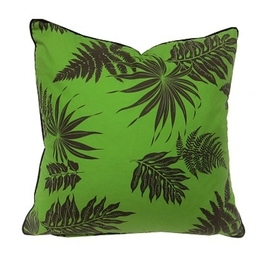 Down FIlled Fern Green Pillow